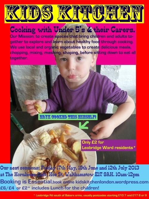 Kids Kitchen Flyer April 2013